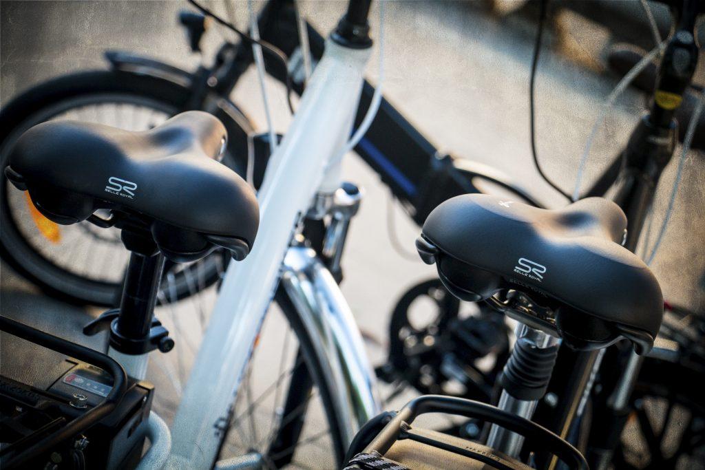 détail selle vélo électrique