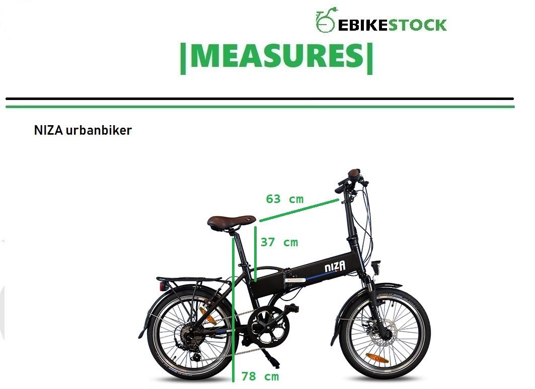 NIZA vélo électrique pliant MEASURES web