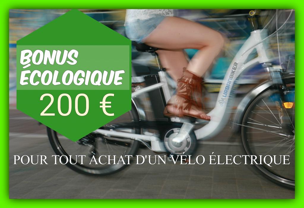BONUS VELO électrique France