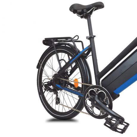 Détail roue dèrriere Hutchinson vélo électrique Viena bleu