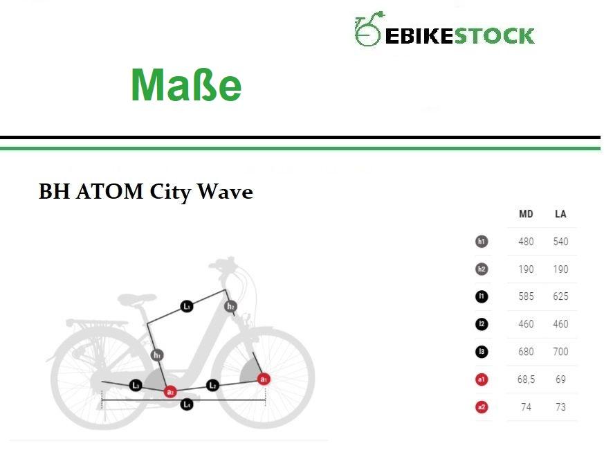 Abmessung BH ATOM City Wave