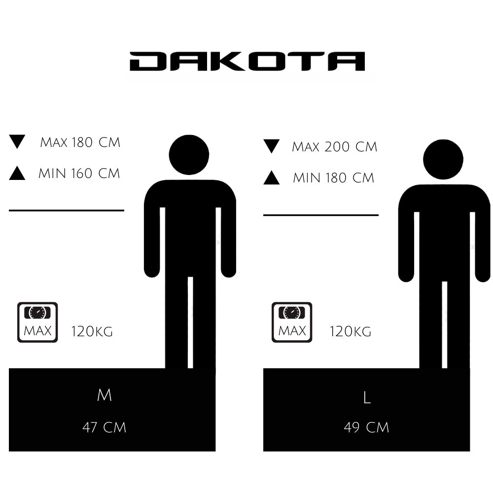 Dakota VTT Guide tailles