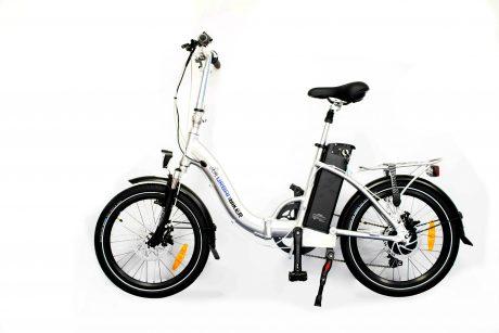 vélo électrique pliant MINI urbanbiker couleur argent