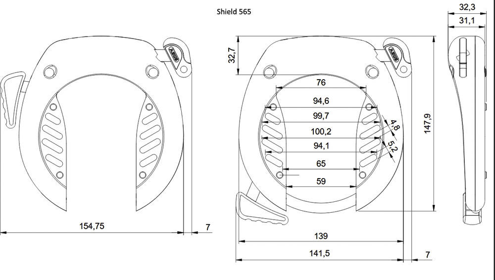 Abus Shield 565 Rahmenschloss